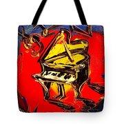 Piano Music Jazz Tote Bag