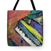 Piano With Yellow Tote Bag by Anita Burgermeister