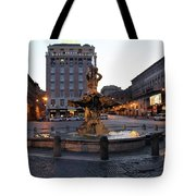 Piazza At Night Tote Bag