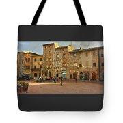 Piazza Della Cisterna Tote Bag