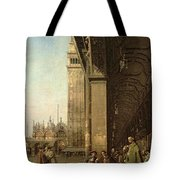 Piazza Di San Marco And The Colonnade Of The Procuratie Nuove Tote Bag