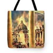 Piazza San Pietro In Roma Italy Tote Bag