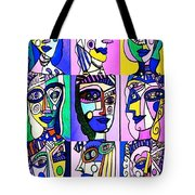 Picasso Blue Women Tote Bag by Sandra Silberzweig