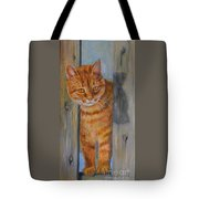 Picasso Coming Through Fence Tote Bag