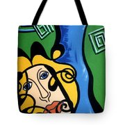 Picasso Influence With A Greek Twist Tote Bag