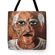 Picasso The Bull In Winter Tote Bag