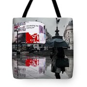 Piccadilly In The Rain Tote Bag