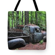 Pick Up Truck In The Woods Tote Bag