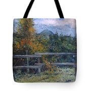Picket Fence Near Heidelberg Western Cape South Africa Tote Bag