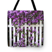 Picket Fence Rhododendron Tote Bag