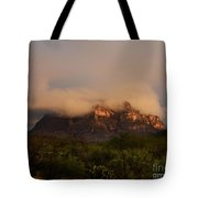 Picket Post Sun Ray Clouds Tote Bag