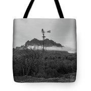 Picket Post Windmill Bw Tote Bag