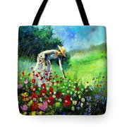 Picking Flower Tote Bag