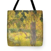 Picking Fruit From A Tree Tote Bag