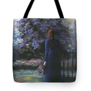 Picking Lilacs Tote Bag