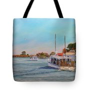 Picking Up Crab Tote Bag