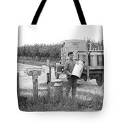 Picking Up Milk Cans Tote Bag