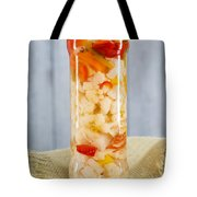 Pickled Vegetables In Clear Glass Jar Tote Bag