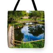 Picnic Area In The Marnel River I Tote Bag