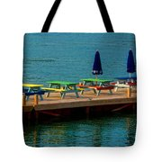 Picnic On The Water Tote Bag