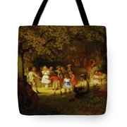 Picnic Party In The Woods Tote Bag