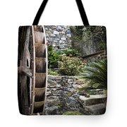 Pictueresque Waterwheel In Cinqueterre Garden Tote Bag