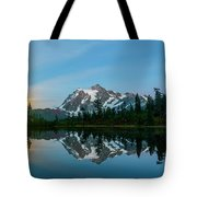 Picture Lake At Night Tote Bag