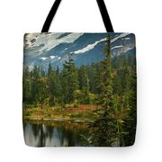 Picture Lake Vista Tote Bag