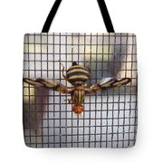Picture Winged Bee Fly On Screen     Spring      Indiana Tote Bag