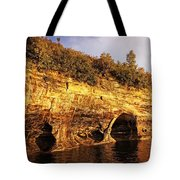 Pictured Rocks Caves Tote Bag