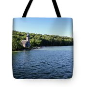 Pictured Rocks Lighthouse Tote Bag