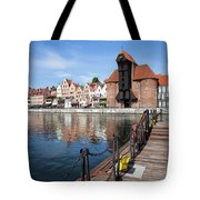 Picturesque City Of Gdansk In Poland Tote Bag
