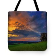 Picturesque Rural Sunset Tote Bag