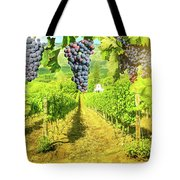 Picturesque Vineyard At Sunset Tote Bag