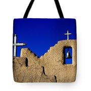 Picuras Pueblo Mission Belltower. Tote Bag