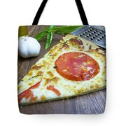 Piece Of Margarita Pizza With Fresh Ingredients Tote Bag