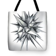 Piece Of World Turned Into Spiked Ball Tote Bag