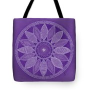 Pieces In Purple Tote Bag