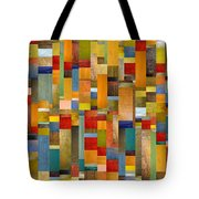 Pieces Parts Tote Bag by Michelle Calkins