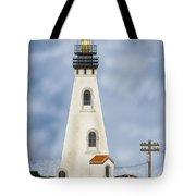 Piedras Blancas Lighthouse In California Tote Bag