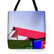 Pier Abstraction Tote Bag