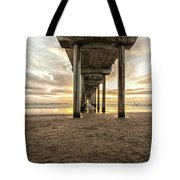 Pier And Clouds Tote Bag