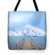 Pier And Mountain Tote Bag