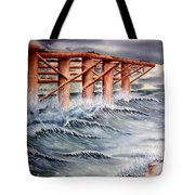 Pier At Atlantic City Tote Bag