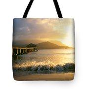 Pier At Sunset Tote Bag