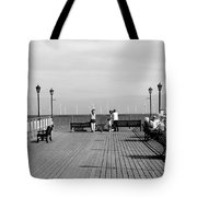 Pier End View At Skegness Tote Bag