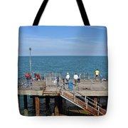 Pier Fishing At Llandudno Tote Bag