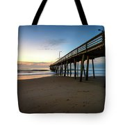 Pier For Breakfast Tote Bag