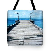 Pier Into The Blue Tote Bag