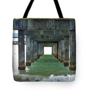 Pier Into The Sunset Tote Bag